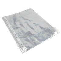 Q-Connect Punched Busn Card Pocket Pk10