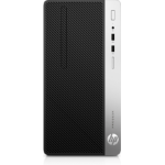 HP ProDesk 400 G5 i3-8100 Micro Tower 8th gen Intel® Core™ i3 4 GB DDR4-SDRAM 500 GB HDD Windows 10 Pro PC Black, Silver