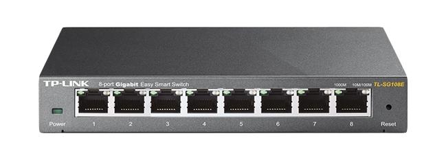 TP-LINK TL-SG108E network switch Unmanaged L2 Gigabit Ethernet (10/100/1000) Black