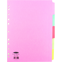 Concord Subject Dividers 160gsm 5-Part A4 Ref 71199/J11 [Pack 50]