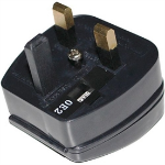 Wortmann AG PC8338-BK-R-5A Type G (UK) Type C (Europlug) Black power plug adapter