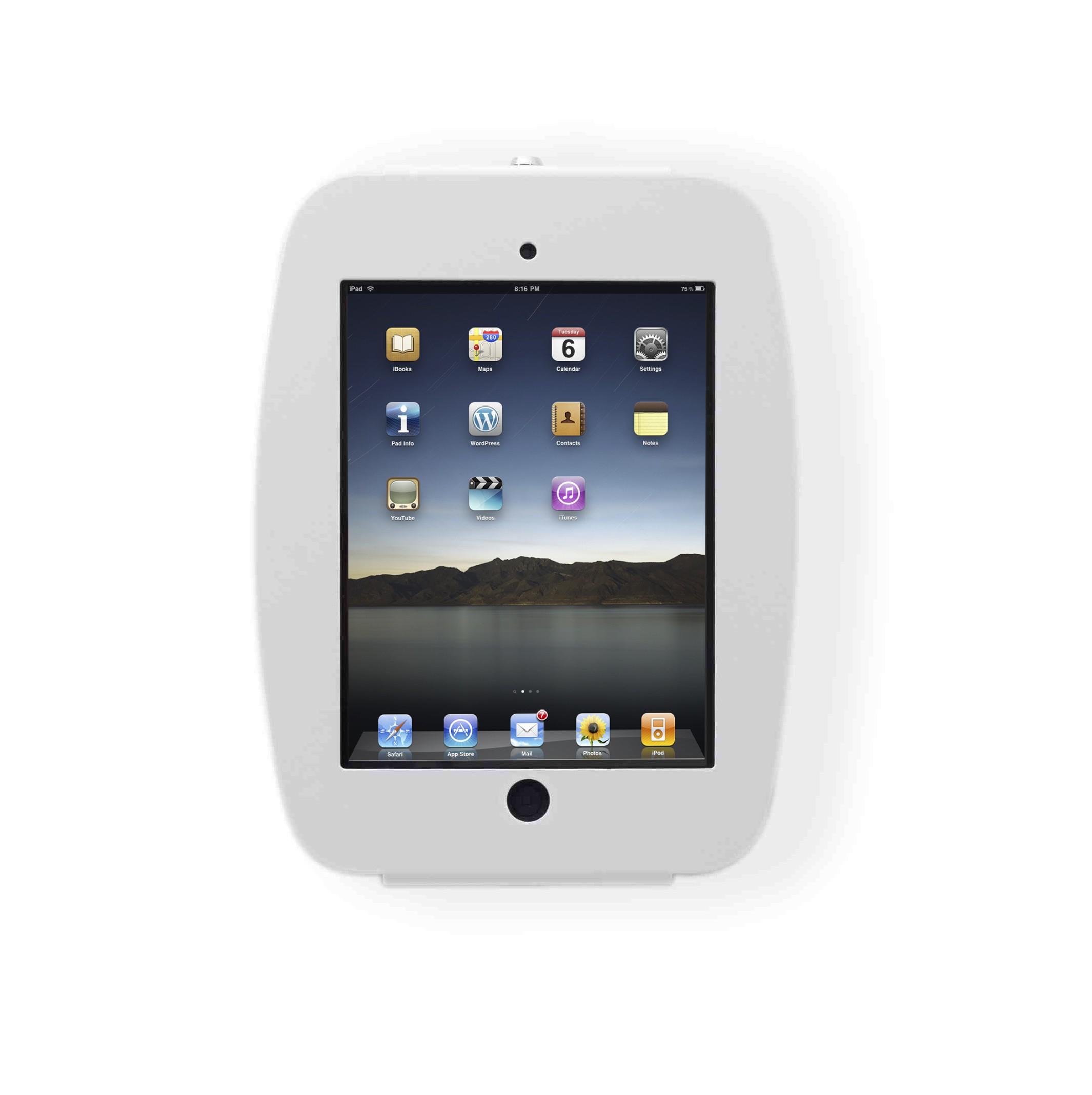 Maclocks Apple iPad 2/3/4 Space Enclosure Series Wall Mount Case - White - (224SENW)