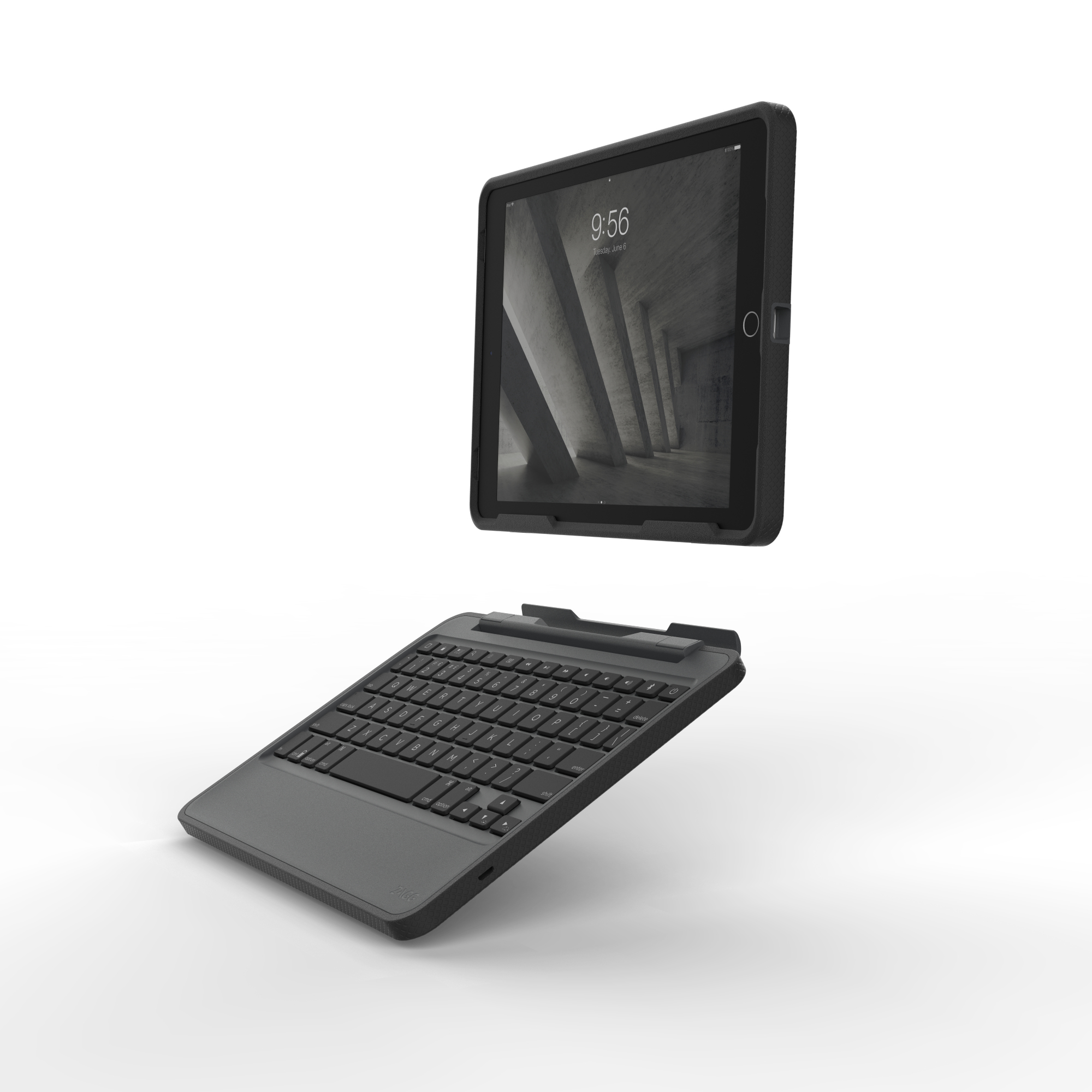 ZAGG Rugged Book toetsenbord voor mobiel apparaat AZERTY Frans Zwart