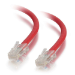 C2G Cable de conexión de red de 3 m Cat5e sin blindaje y sin funda (UTP), color rojo