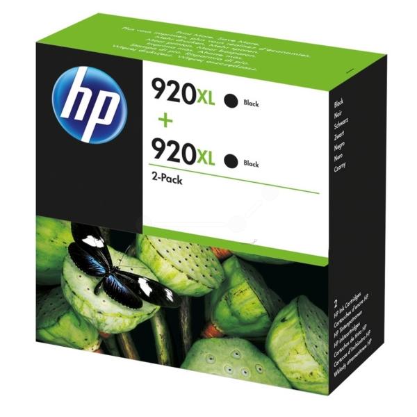 HP D8J47AE (920XL) Ink cartridge black, 1.2K pages, 32ml, Pack qty 2