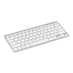 R-Go Tools R-Go Compact Keyboard, QWERTZ (DE), white, wired