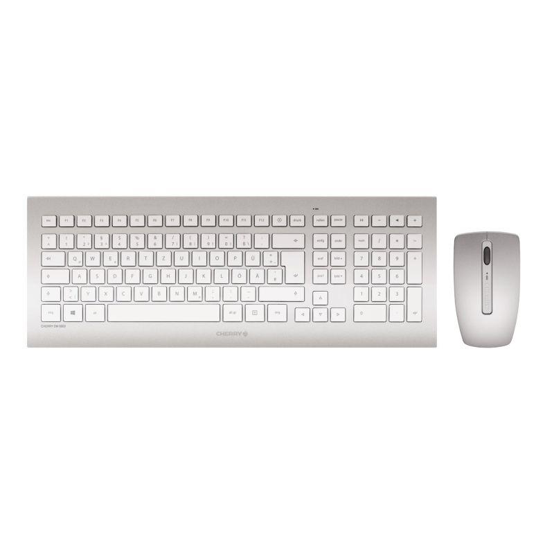 CHERRY DW 8000 keyboard RF Wireless QWERTY US English Silver,White