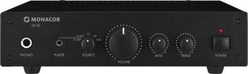 Monacor SA-50 audio amplifier 2.0 channels Performance/stage Black