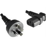 Microconnect PE010418AUSTRALIA-A 1.8m Power plug type I C13 coupler Black power cable