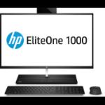 "HP EliteOne 1000 G1 68.6 cm (27"") 3840 x 2160 pixels Touchscreen 7th gen Intel® Core™ i7 8 GB DDR4-SDRAM 256 GB SSD Windows 10 Pro All-in-One PC Black, Silver"