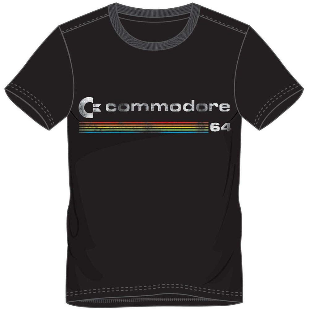 COMMODORE 64 Men's Logo T-Shirt, Large, Black (TS878446C64-L)