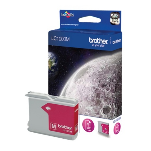 Brother LC-1000M Ink cartridge magenta, 400 pages @ 5% coverage, 11ml