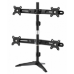 "Amer AMR4SU 24"" Freestanding Black flat panel desk mount"