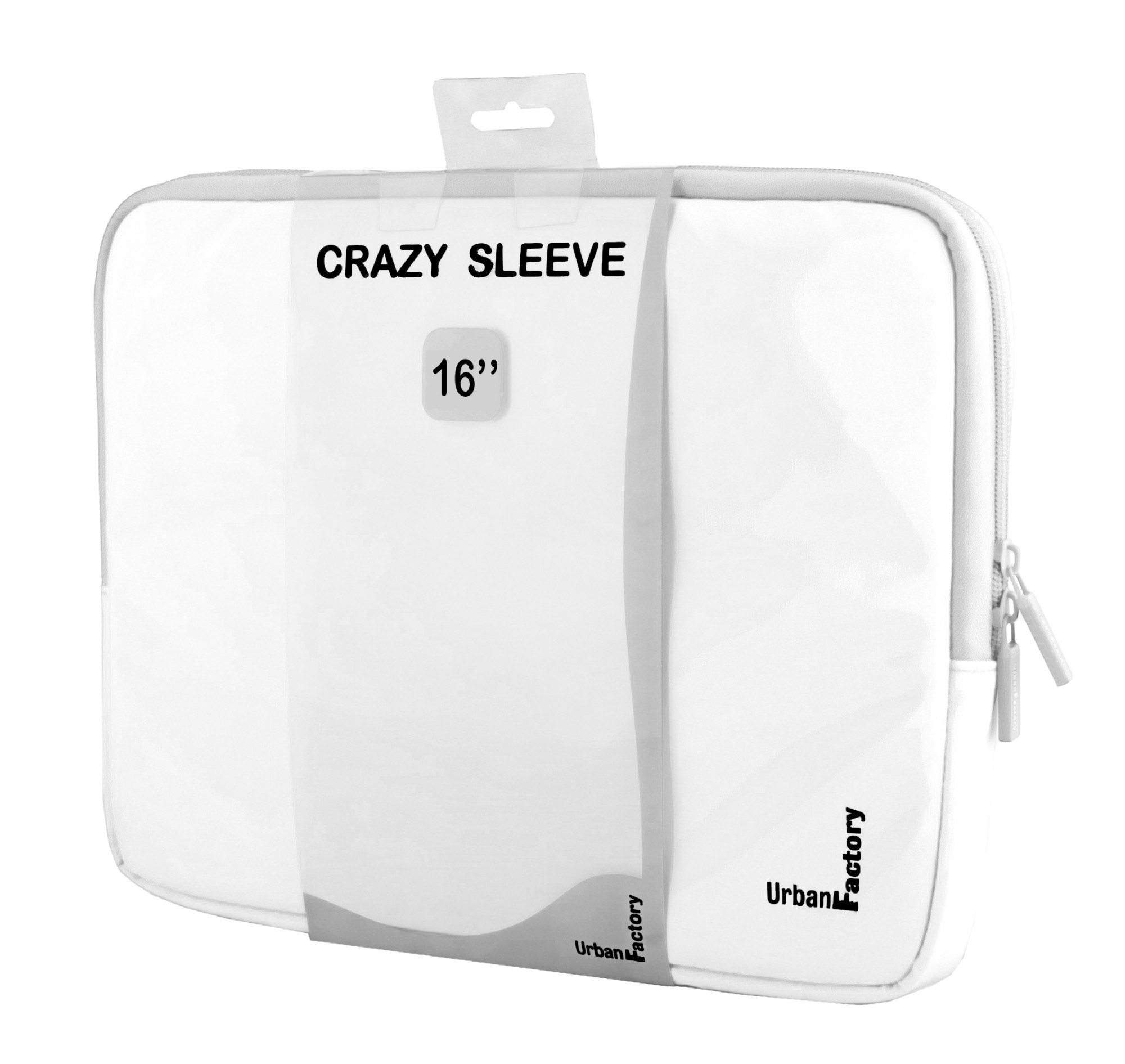 "Urban Factory MSC15UF notebook case 40.6 cm (16"") Sleeve case White"