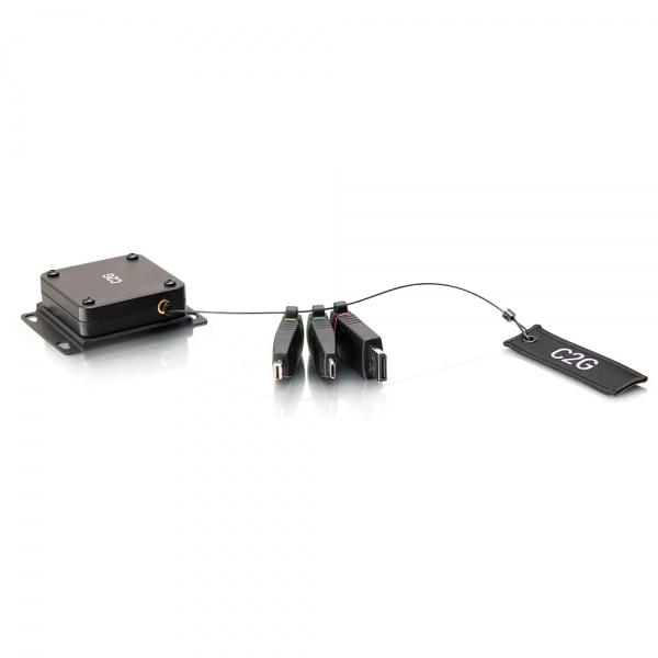 C2G Anillo de adaptadores HDMI[R] 4K con soporte retráctil universal con Mini DisplayPort[TM], DisplayPort y USB-C[R] codificados por colores