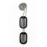 UNCHARTED 4 A Thief's End Logo & Quote Dog Tags, Silver/Black (GE3111)