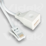 Videk UK Plug to Socket Extension 3m 3m telephony cable