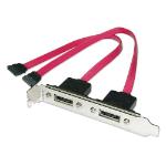 LINDY 2 Port eSATA Backplate Adapter. 0.35m