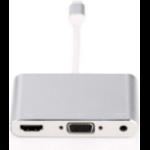 Microconnect LIGHT-HUB1 interface hub Lightning Silver