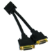 Cables Direct CDL-DV188 cable splitter/combiner Black