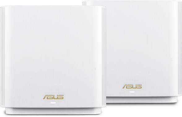 ASUS ZenWiFi AX (XT8) wireless router Tri-band (2.4 GHz / 5 GHz / 5 GHz) Gigabit Ethernet White