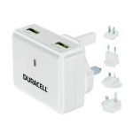 Duracell DR6001W Indoor White mobile device charger