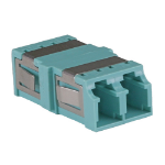 Cablenet OM3 LC Duplex Adaptor Aqua (No Flange)