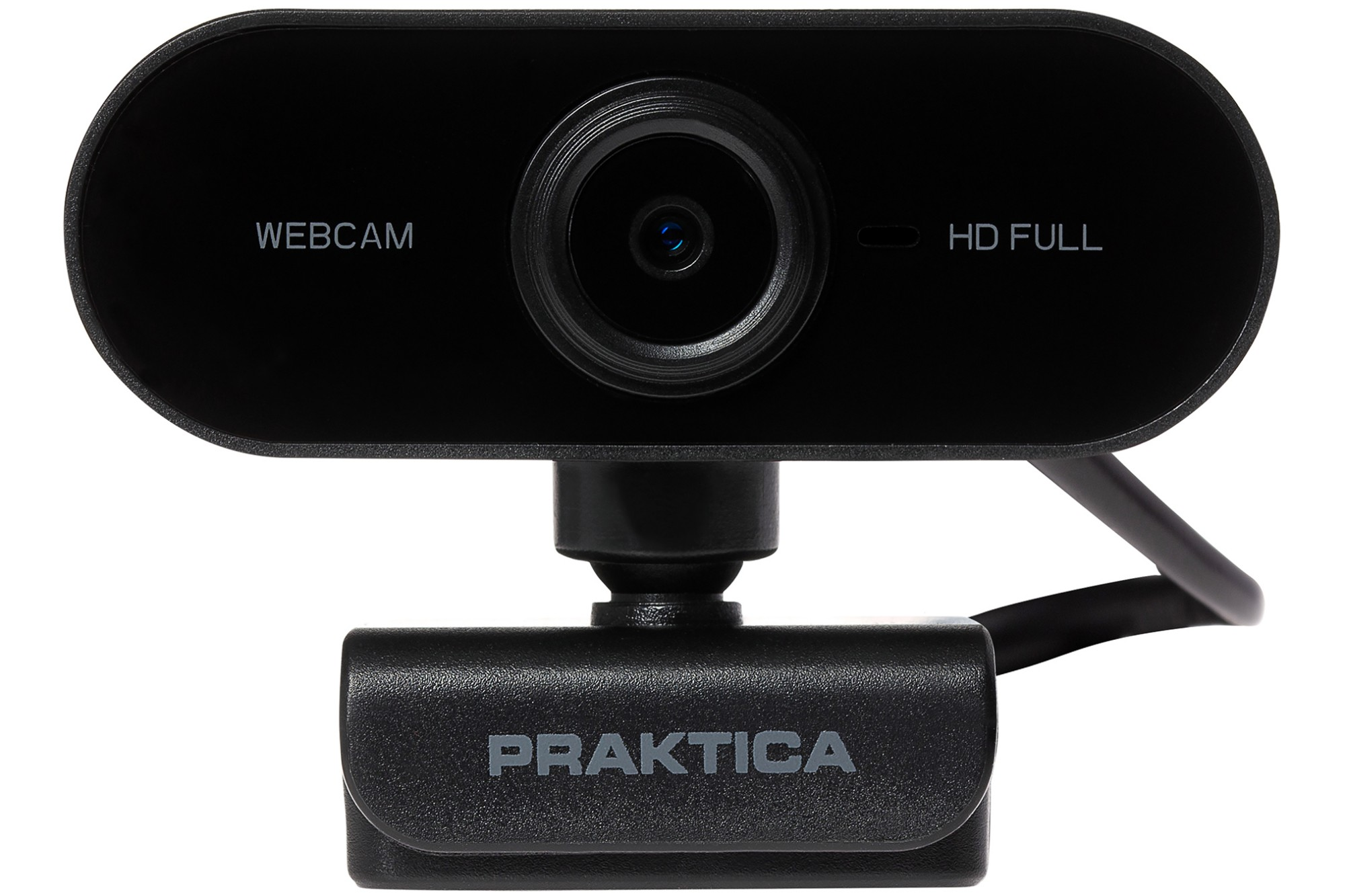Praktica Webcam Full HD Auto Focus USB-A Built in Microphone and Tripod Mount