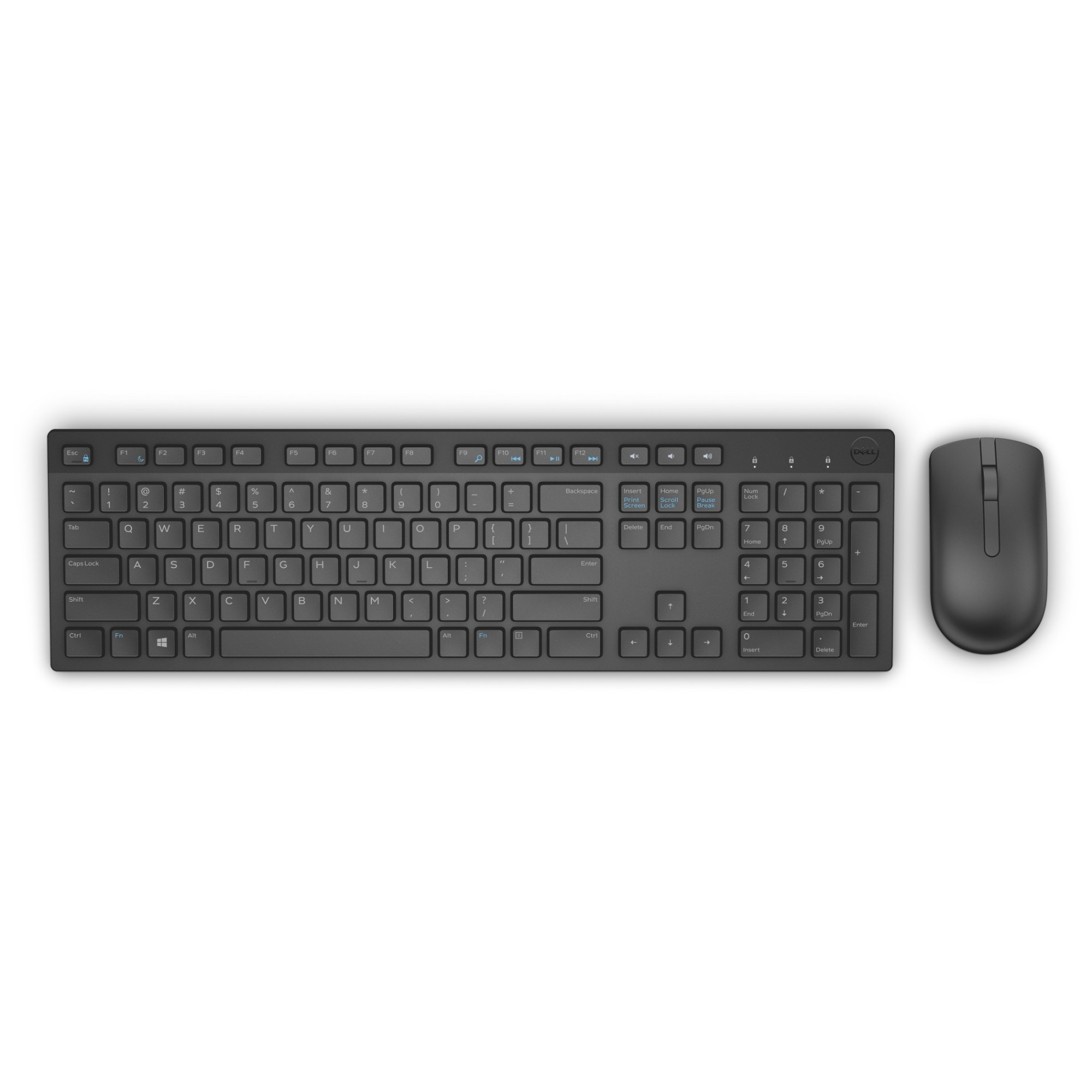 DELL KM636 toetsenbord RF Draadloos QWERTY US International Zwart