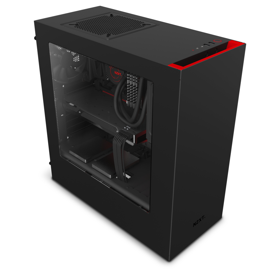 NZXT S340 Midi-Tower Black,Red computer case
