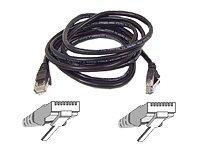 Belkin Patch cable - RJ-45(M) - RJ-45(M) - 10m ( CAT 5e ) - black 10m Black networking cable