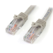"StarTech.com Cat5e patch cable with snagless RJ45 connectors "" 1 ft, gray"