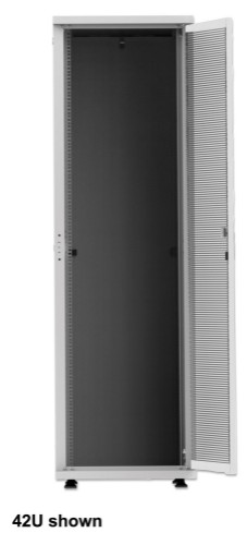 "Intellinet 19"" Basic Server Cabinet, 36U, 1766 (h) x 600 (w) x 1000 (d) mm, Max 600kg, Flatpack, Grey"