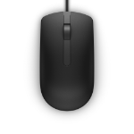 DELL MS116 mouse Ambidextrous USB Type-A Optical 1000 DPI