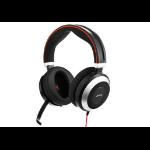 Jabra Evolve 80 MS Stereo Headset Hoofdband Zwart
