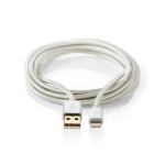 Nedis CCTB39300AL20 mobile phone cable Aluminium USB A Lightning 2 m