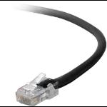 Belkin Cat5e, 25ft, 1 x RJ-45, 1 x RJ-45, Black 7.62m Black networking cable