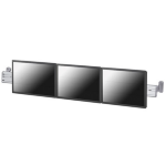 "Newstar Wall Mount Toolbar for up to three 10-24"" monitor screens - Silver"