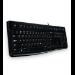 Logitech K120 teclado USB QWERTY Ruso Negro