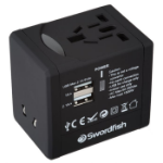 Swordfish 40249 power adapter/inverter Indoor Black