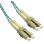"""AddOn Networks LC - LC, LOMM, OM4, 8m fiber optic cable 315"""" (8 m) OFC Turquoise"""