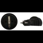 InLine Schuko to Swiss 3 Pin Plug Adapter