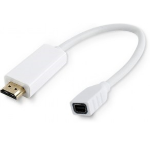 Microconnect HDMMDP 0.1m HDMI Type A (Standard) Mini DisplayPort White video cable adapter