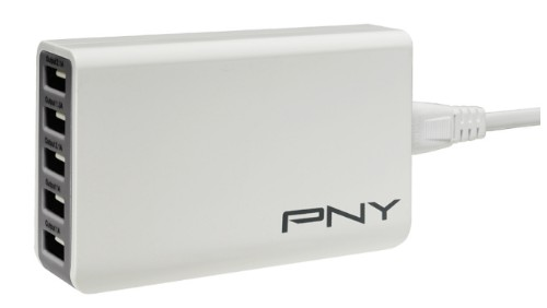 PNY P-AC-5UF-WUK01-RB mobile device charger Indoor Grey,White