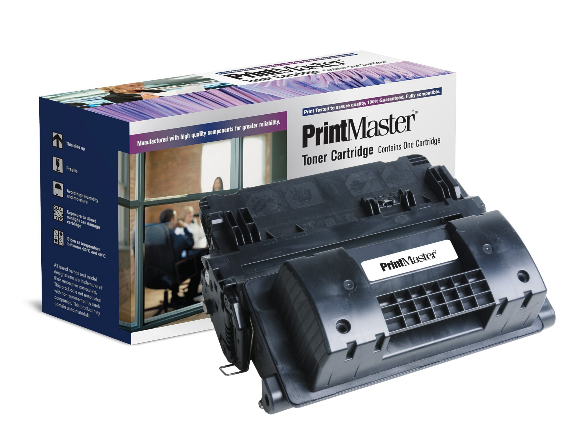 PrintMaster Black Toner Cartridge for HP LaserJet P4015, 4515