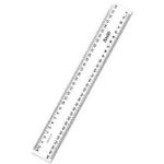 BANTEX RULER PLASTIC 30CM CLEAR