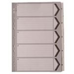 A4 White 1-5 Mylar Index WX01527