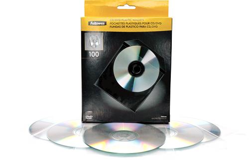 Fellowes 9831201 optical disc case Wallet case 1 discs Transparent, White