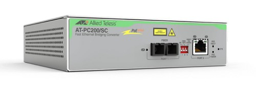 Allied Telesis AT-PC200/SC-60 network media converter 100 Mbit/s 1310 nm Multi-mode Grey