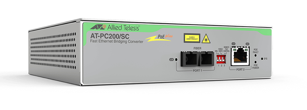 Allied Telesis AT-PC200/SC-60 convertidor de medio 100 Mbit/s 1310 nm Multimodo Gris